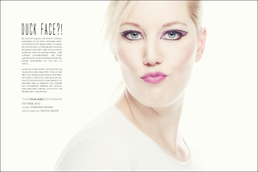 <b>Christine Kunkel</b> Nicole Quick Spontan Maskenbildnerausbildung Duckface <b>...</b> - 121029-spontan-christine-nicole-fashion-like-01