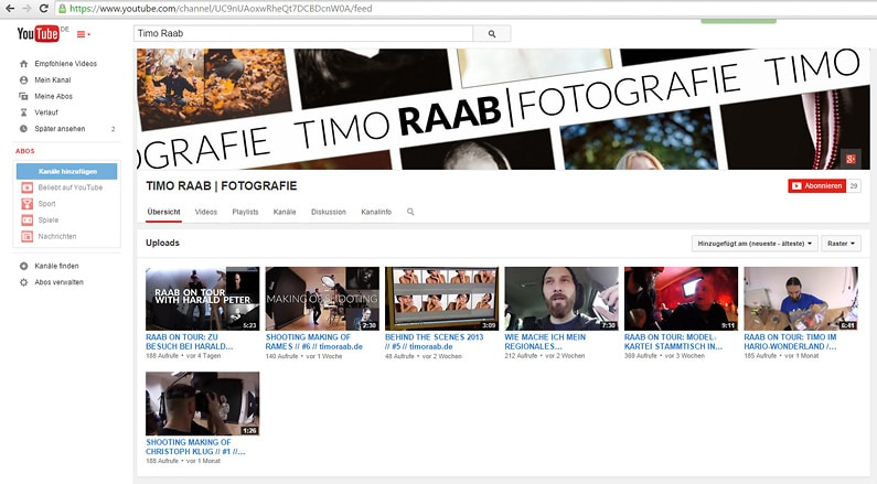 Aschaffenburg, Fotografie, Großostheim, Fotograf, Video, Vlog, Youtube, Youtube Kanal, Timo Raab, Tutorials, Behind the Scenes, Bildbearbeitung, Videobearbeitung, Videoschnitt, Vimeo, Lernen (2)